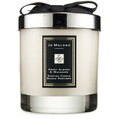 Jo Malone London Sweet Almond & Macaroon Home Candle 200g ($57) ❤ liked on Polyvore featuring home, home decor, candles & candleholders, jo malone candles, coconut oil candle, vanilla candles, coconut candles and jo malone