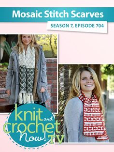 Ravelry: Knit and Crochet Now! Knit And Crochet Now, Crochet Hats, Sewing Patterns, Scarf Patterns, Bead Kits, Season 7, Free Pattern, Mosaic