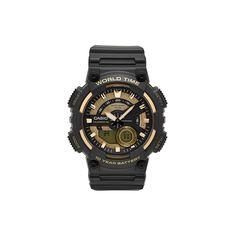 Casio Men's Telememo Analog-Digital Watch - AEQ110BW-9AVCF, Black