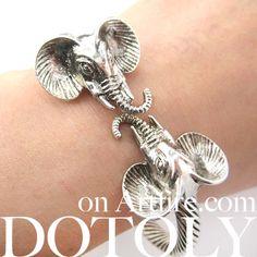 Elephant Animal Bangle Bracelet in Silver | Animal Jewelry