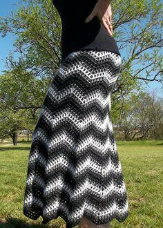 Color Wave Skirt pattern on Craftsy.com