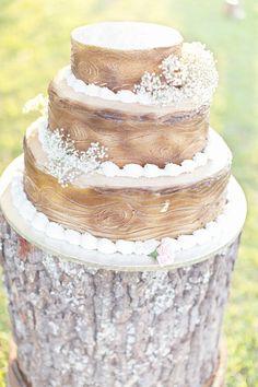 Gorgeous rustic cake: http://www.stylemepretty.com/2013/01/23/alabama-backyard-wedding-film-from-glass-jar-photography/ | Photography:   Glassjar http://glassjarphotography.com/index2.php#!/HOME