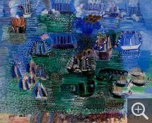 Raoul DUFY (1877-1953), Fête maritime et visite officielle au Havre, huile sur toile, 91,5 x 111 cm. © MuMa Le Havre / Florian Kleinefenn — © ADAGP, Paris, 2015