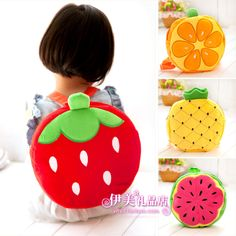Cute fruit pattern children school bag kid kawaii backpack small backpacks christmas gift baby bag(China (Mainland))