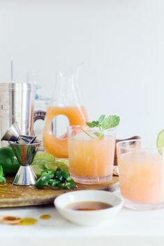 Grapefruit, tequila and lime Paloma