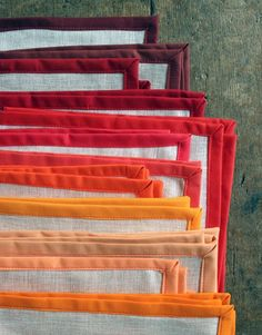 DIY: linen holiday napkins Imagine the possibilities