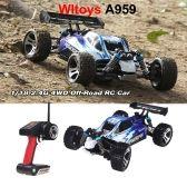 RC Cars WLtoys A959 Vortex 1//18 2.4G 4WD /électrique RC Car Off-Road Buggy RTR Rouge
