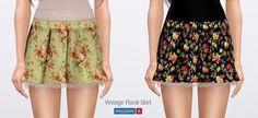 Vintage Floral Skirt by pauleanr - Sims 3 Downloads CC Caboodle