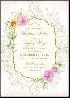 33 best wedding paper divas images on pinterest wedding paper elegant enchantment 5x7 wedding invitations junglespirit Images