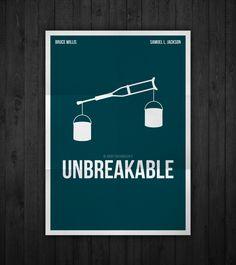 Semi-minimal movie poster of Unbreakable by Rubenski Gooljar