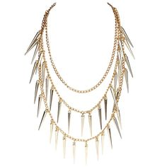 Fashion Golden Punk Rock Spike Rivets Studs Tassels Jewelry Chains Necklace http://www.eozy.com/fashion-golden-punk-rock-spike-rivets-studs-tassels-jewelry-chains-necklace.html