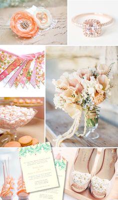 Peaches & Cream Wedding Colour Scheme www.catherinemee.co.uk