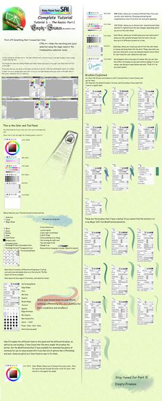 Easy Paint Tool SAI Tutorial The Basics part 2 by Empty-Frames.deviantart.com on @deviantART