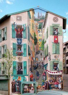 French artist Patrick Kommesi transforms boring buildings into something else - Album on Imgur