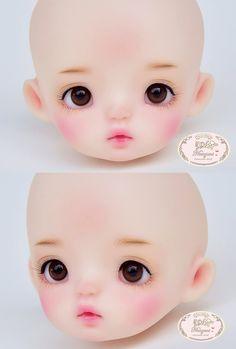 ::. 𝐂𝐮𝐬𝐭𝗼𝗺 𝐟𝐚𝐜𝐞-𝐮𝐩 .:: Tiny head by CN Artist www.nomyens.com #bjd #abjd #balljointdoll #dollofstargram #instadoll #dollstargram #toy #paint #painting #painted #repaint #handmade #nomyens #nomyensfaceup #tinydoll Star G, Tiny Dolls, Ball Jointed Dolls, Bjd, Cosmetics, Toys, Face, Artist, Handmade