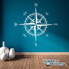 Compass Rose Vinyl Wall or Ceiling Decal 52 x by KrittahStickers, $44.99