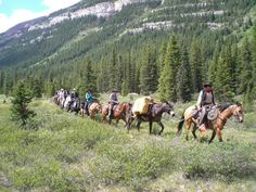 Horseback riding in the Canadian Rockies with Holiday on Horseback