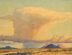 Maynard Dixon (1875-1946) Drought and Downpour, 1944 Watercolor 14.5 x 18.5