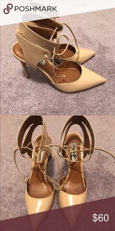 Steve Madden pumps Nude leather pumps worn once Steve Madden Shoes Heels