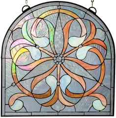 Blush Trinal Flower Arch Stained Glass Window