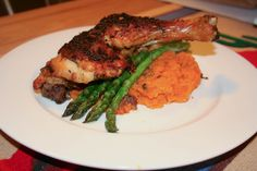 Roast Chicken Maryland with Asparagus