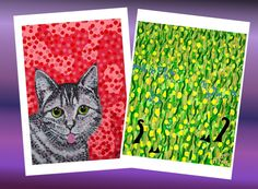 Sold!!! . Thanks to the buyer of these 2 art prints, 'The FInnish Cat' and 'Two Black Cats'. #madeby #finland #madeinfinland #art #taide #cats #artforsale #colour #colorful #nagohnala #mollycatfinland