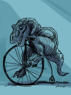 T-Rex, would you like to ride my bicycle? T-Rex, wish me a happy anniversary. T-Rex, we're so happy for you. T-Rex, we made you a cake. Eat T-Rex. Eat T-Rex. EAT T-REX! Illustration Photo, Illustrations, Finally Happy, Wow Art, T Rex, Make Me Smile, Funny Pictures, Character Design, Sketches