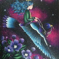 Que show! By  @coloring_laura with @repostapp  Dagdrömmar ❤️ by @hannakarlzon   I used prismacolor and atyou spica glitter pens and white gel pen   #Dagdrömmar #hannakarlzon #daydreams #coloring #adultcoloringbook #adultcoloring #coloringforadults #galaxy #prismacolor #prismacolorpremier #atyouspica #glitter  #desenhoscolorir #artecomoterapia #enchantedcoloring #coloringmasterpiece #majesticcoloring #tabrakwarna #colorindomeujardimencantado #mainwarnasurabaya #daydreamscolouring