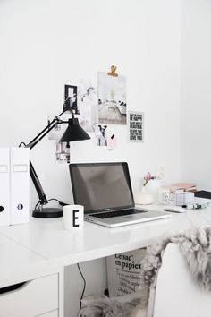 Scandinavian style home office. Elisabeth Heier
