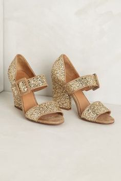 sparkly glitter heels from Anthro