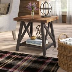 New Silvis End Table by Laurel Foundry Modern Farmhouse. top rated furniture sale from top store Furniture, Farmhouse End Tables, Table Storage, Table, Home Decor, Etagere Bookcase, End Tables, End Table Sets, Coffee Table
