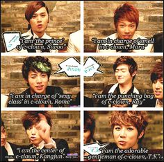 Member Roles in C-Clown [gif set]