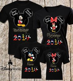 Disney Vacation Shirt Disney Trip -Shirt Family Disney T-Shirts Mickey Mouse Minnie Mouse Shirt Family Name Disney t-shirts Family Shirt !!!!!!!Please Watch the size chart and delivary time very well We do not accept replacement or refund if you did not order the correct size!!!!!!  Ready to ship in