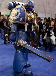 Warhammer 40k Space Marine life size costume for some awesome Cosplay