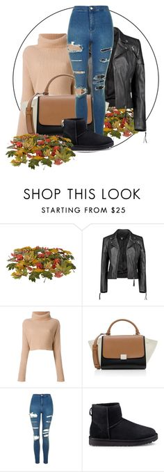 """""""Untitled #1052"""" by jasmine96xx on Polyvore featuring Boohoo, CÉLINE, Topshop and UGG"""