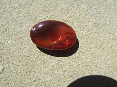 FIRE OPAL Cabochon 28mm  Mexican Fire Opal Cab  Clear Red /