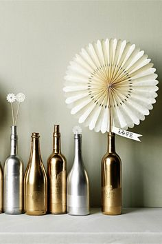 create a magical path with old bottles