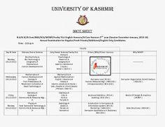 Datesheet-2ndyear-kashmiruniversity