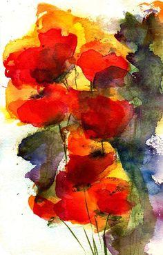 Reaching | Watercolor by Anne Duke