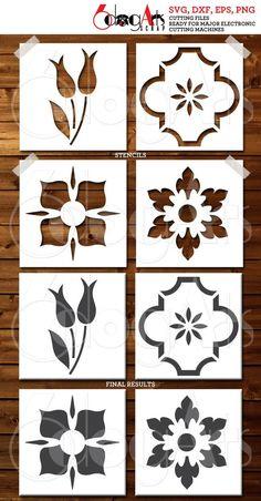 Stencils, Stencil Fabric, Stencil Printing, Stencil Templates, Stencil Patterns, Stencil Diy, Stencil Designs, Fabric Painting, Deco Cuir