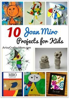 10 Joan Miro Projects for Kids Browse selection of art appreciation projects for kids, Open process art, watercolor techniques, and decoration ideas also provide excellent inspiration for kids. Art History Projects For Kids, Art History Lessons, History For Kids, Art Lessons, Art Projects, Children Projects, Sculpture Projects, Programme D'art, Art For Kids