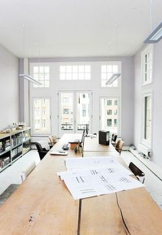 beautiful office space // white space