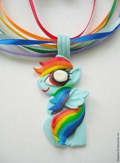 Ярмарка Мастеров: Кулон. Мой маленький пони. Радуга Дэш (Rainbow Dash). Handmade.
