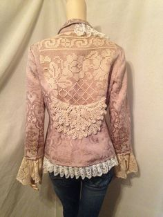 Lagenlook Upcycled Jacket Victorian Inspired by bluemermaiddesigns