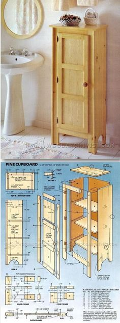 Pine Cupboard Plans - Furniture Plans and Projects | http://WoodArchivist.com