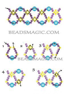 Free pattern for necklace Emprise   Beads Magic -- I think this will make a nice bracelet as well :)