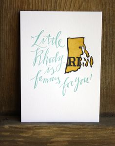 Rhode Island Letterpress Print by 1canoe2 on Etsy, $15.00