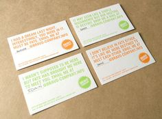 Bravo Company by Bravo Company , via Behance // Cheesy pick-up lines for a design agency's namecard. How can you resist?
