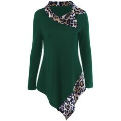 12.34$  Watch now - http://die6s.justgood.pw/go.php?t=204650310 - Leopard Panel Asymmetrical T-Shirt