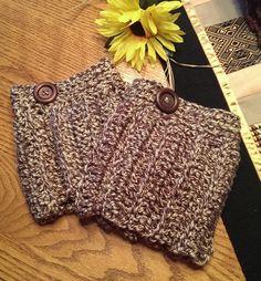 Boot Cuff  Boot Topper  Leg Warmer  Crochet Cuff  by NanainDoor, $12.00